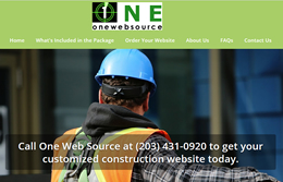 one web source construction websites