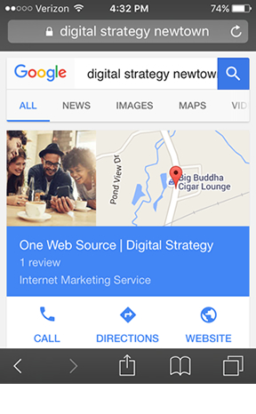 One Web Source Google My Business Newtown CT
